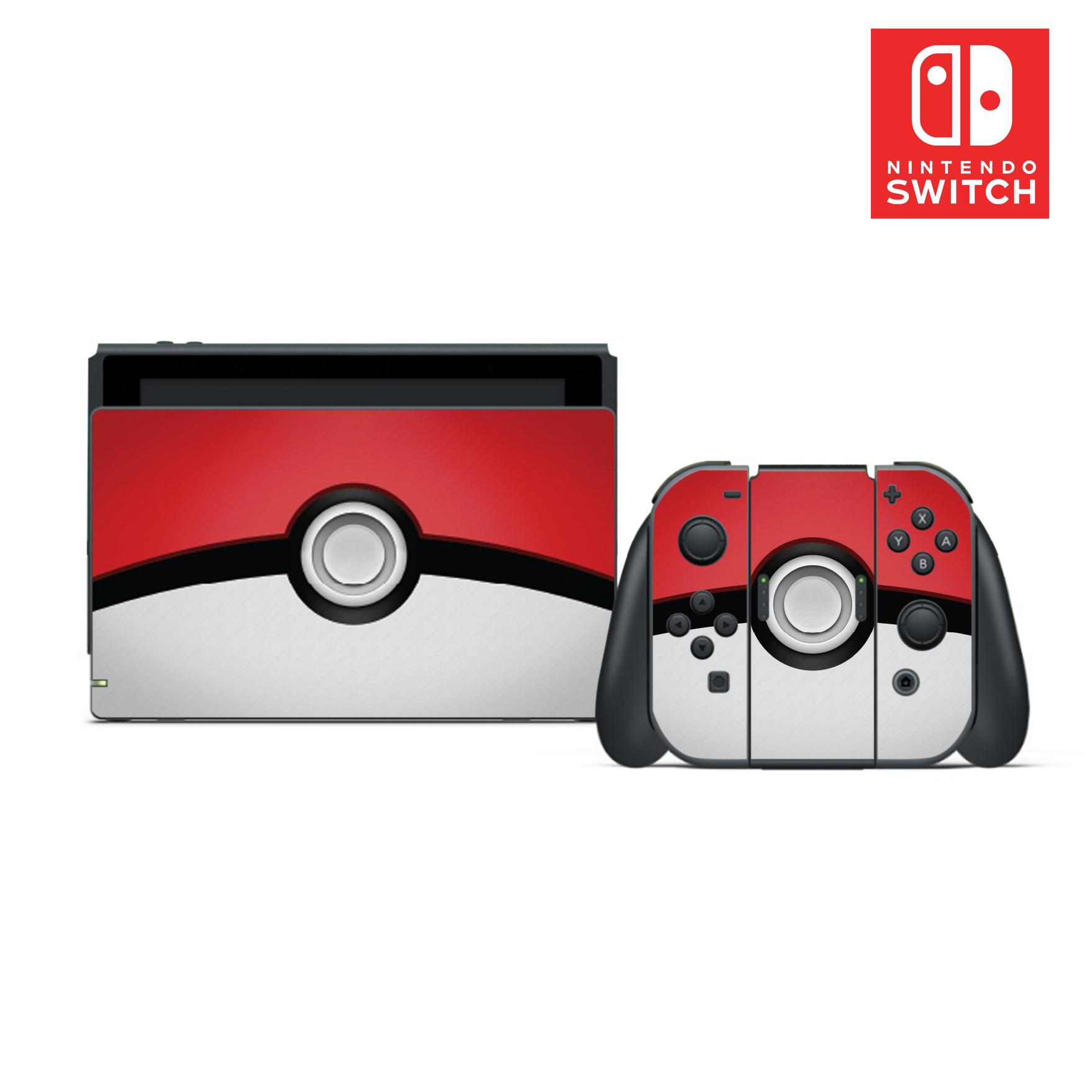 Details About Pokemon Pokeball Vinyl Skin Sticker Set For Nintendo Switch Show Original Title